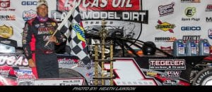 Late Pass Propels Pearson To Lucas Oil Late Model Dirt Series Win At 141 Speedway