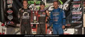 Larson Holds Off Macedo & Blaney For Ohio Speedweek All Star Win At Eldora