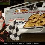Richie Pratt Parks Modified In Victory Lane At Bridgeport