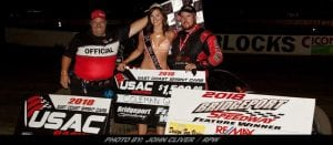 "RPW Exclusive: Gulick ""Ices"" Bridgeport Field For First Career USAC East Coast Victory"