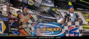 Steve Poirier & Connor Cleveland Top Legends Reunion Night at Weedsport Speedway