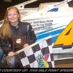Aleia Geisler Becomes First Female Ever To Win Modified Feature At Five Mile Point