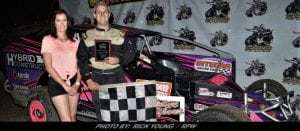 Help From Above Sends Aaron Pugh To First Ever 358-Modified Win At Brockville