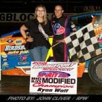 Ryan Watt Electrifies Field For Modified Victory Saturday At Bridgeport Speedway