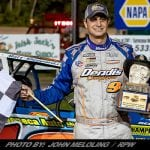Matt Sheppard Pads Super DIRTcar Series Points Lead With Last-Lap Pass To Win The 'Duel At The Demon'