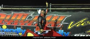 Dave Franek Doesn't Panic; Captures Patriot Sprint Victory At Outlaw Speedway