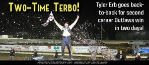 Tyler Erb Goes Back-To-Back; Wins WoO LM Event At Atomic With Last-Lap Pass