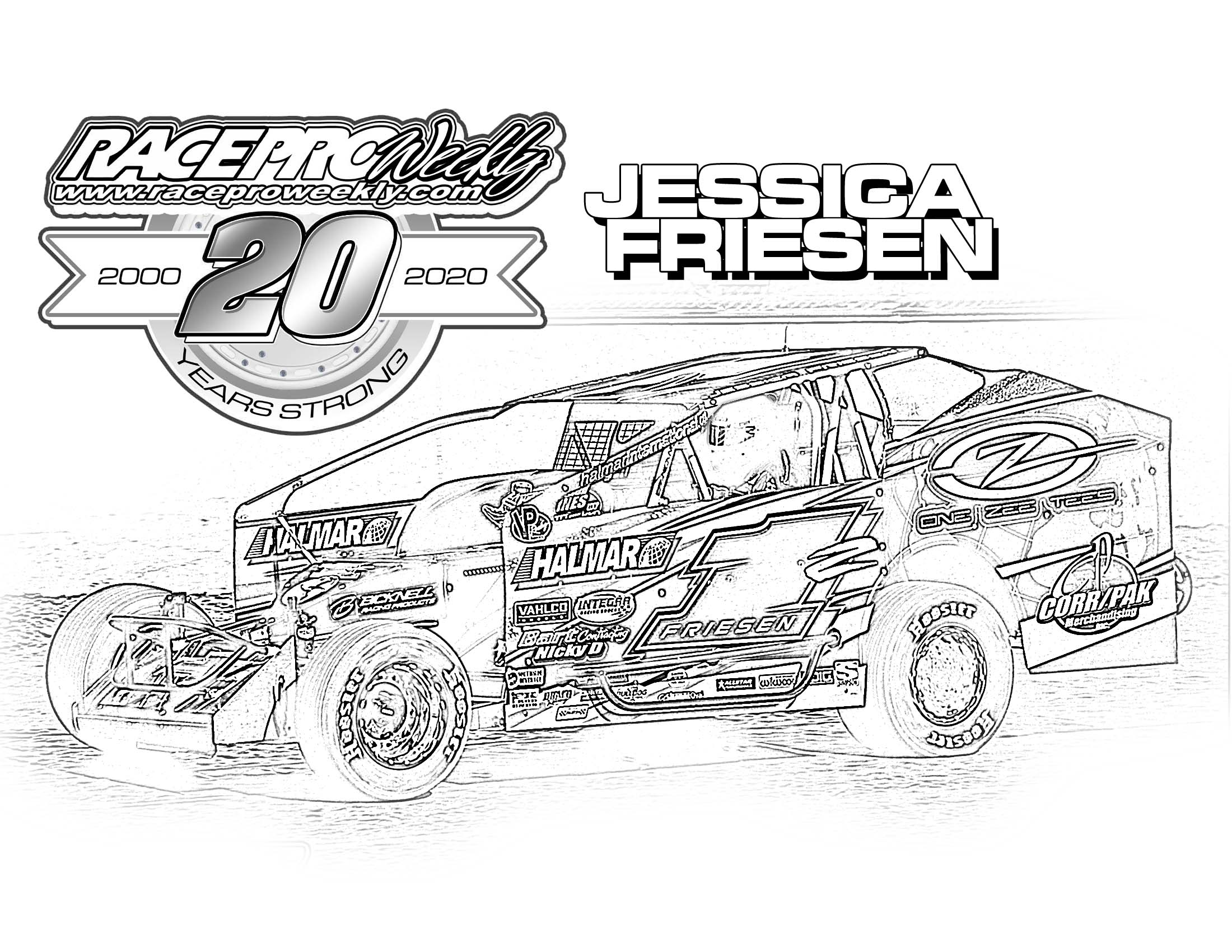 Fan Zone Coloring Pages Race Pro Weekly